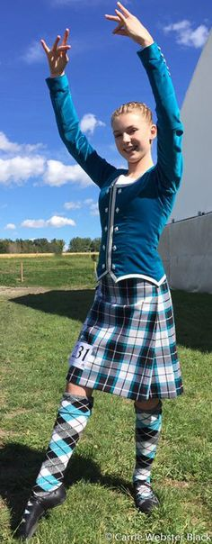 Maddie looking beautiful for her first Premier competition at Calgary Highland Games 2016 in her new Bonnie Shadow kilt & alternating marl hose by Bonnie tartan. Photo by Mum Carrie Black.