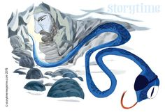 Odin disguised as a stunning snake in our latest Norse myth. Illustrated by Eva Eskelinen (http://evelmiina.tumblr.com) for Storytime Issue 16. ~ STORYTIMEMAGAZINE.COM