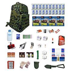 Zippmo Urban Survival Kit Deluxe Two is a large three day pack loaded with emergency water emergency food survival gear first aid sanitary supplies and shelter. This four person deluxe kit is han...