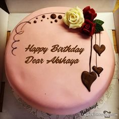 92 Best Happy Birthday Name Cakes Images On Pinterest