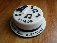 Music cake met wat minder werk