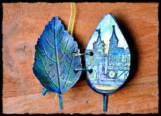 Mini Book {by Liesbeth Fidder} with metal leaf covers Altered Books, Altered Art, Book Crafts, Arts And Crafts, Handmade Books, Handmade Journals, Handmade Notebook, Floral Artwork, Mini Books