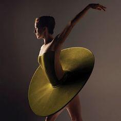 "Modern Tutu - fabulous! Madeleine Eastoe wearing Vertiginous Thrill of Exactitude costume from The Australian Ballet's new ""My Favourite Tutu"" calendar. Photograph by Jo Duck."