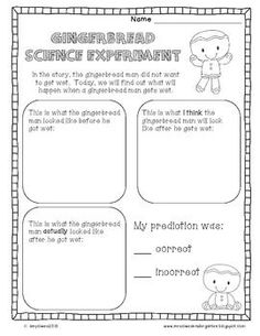 FREEBIE!  Gingerbread Science Experiment