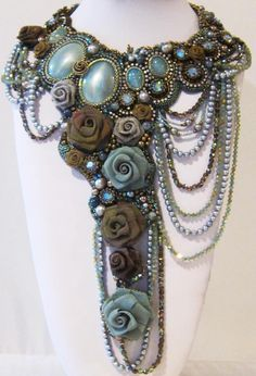 Northern Virginia Bead Society (NVBS) - The Northern Virginia Bead Society is pleased to presentArtist Sherry SerafiniinBead Embroidery Design and Define - April 5-6, 2013Caged Heart April 7, 2013  To view Sherry's work, please visit www.serafinibeadedjewelry.com