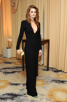 Stana Katic at the Intimate Cocktail and Dinner Event