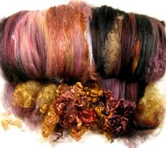 Inner Fire Wild Card Bling Batt for Spinning and by yarnwench, $30.00