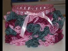 Crochet a Sashay yarn onto a Toddler Skirt