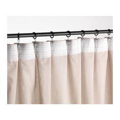 Ikea kvartal system with vivan curtains riktig curtain for Curtain rings ikea