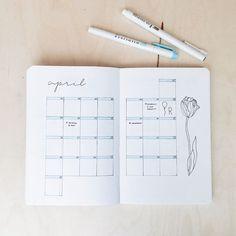 bullet journal idea : monthly setup