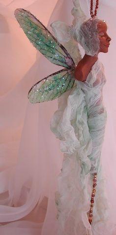 Green angel by Bonnie Jones on Etsy