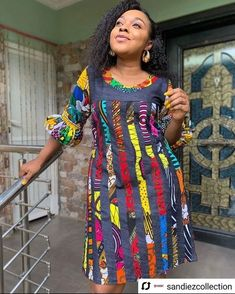 Ankara Patterned Short Dress Designs for Beautiful Ladies Gorgeous! More Colors - More Summer Fashion Trends To Not Miss This Season. - Haircuts and Hairstyles Terninho basicp Lovely Summer Outfi. Short African Dresses, African Blouses, Latest African Fashion Dresses, African Print Dresses, African Print Fashion, Africa Fashion, Ankara Fashion, African Prints, African Fabric