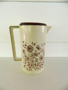 Vintage Tea Pitcher Retro Plastic Flowers by Rustage on Etsy, $10.00