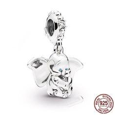 dc35703e1 spring 925 Sterling Silver beads Dumbo Dangle Charm Fit Original Pandora  bracelet for woman DIY jewelrly or gift. #spring #Sterling #Silver #beads  #Dumbo ...