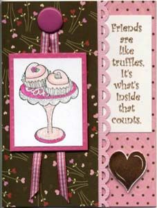 Truffles Card & DIY Directions from GreatImpressionsStamps.com