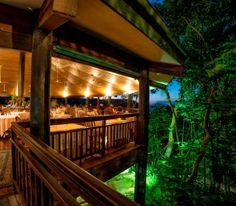Would you like to eat dinner here? Osprey's restaurant at Thala Beach Lodge