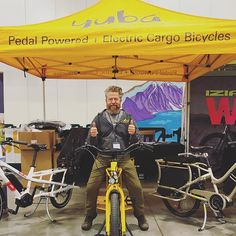 Hey Wisconsin! Don't miss your chance to see us at this year's Bike Expo Sale! It's like a family bike bonanza!  We teamed up with @wheelandsprocket to offer some awesome family bikes just in time for the riding season! Find us on the Electric Test Track too.  We'll be here all weekend, so stop by and say Hi to Jeff! . . . #bikesthatcarrymore #yubabikes #cargobikes #sale #wisconsin #bikeexposale #sayhitojeff #cargobikelife Cargo Bike, Bike Life, Say Hi, Miss You, Wisconsin, Electric, Track, Awesome, Instagram