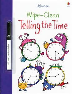 Love it! a Write on/Wipe off book for the kids to learn telling time.  Usborne Books & More. Wipe-Clean Telling The Time