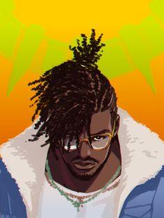 Black Panther Marvel, Black Panther Party, Erik Killmonger, Portrait Art, Male Portraits, Pop Art Wallpaper, Fibre Textile, Black Comics, Black Anime Characters
