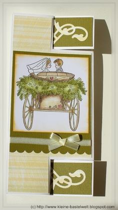 Kerstin's kleine Bastelwelt: Tri Shutter Card in lang zur Hochzeit