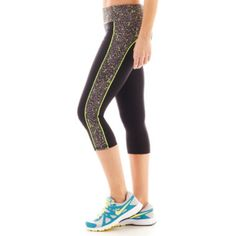 Xersion™ Print-Inset Fitted Capris  found at @JCPenney