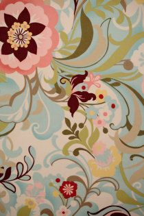 floral mint, would love as fabric
