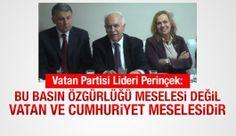 Vatan Partisi Lideri Doğu Perinçek: Basın özgürlüğü meselesi değil, vatan meselesidir