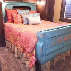 Old truck turned king size bed