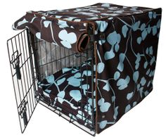 Make a beautiful cover for your dog's crate. Turn plain into elegant for your beloved pet.