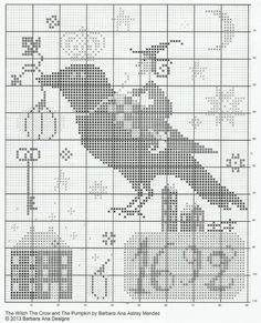 ru / Фото - The Witch, The Crow and the Pumpkin - dentilla Pagan Cross Stitch, Fall Cross Stitch, Cross Stitch Finishing, Cross Stitch Samplers, Cross Stitch Charts, Cross Stitch Designs, Cross Stitching, Cross Stitch Embroidery, Cross Stitch Patterns