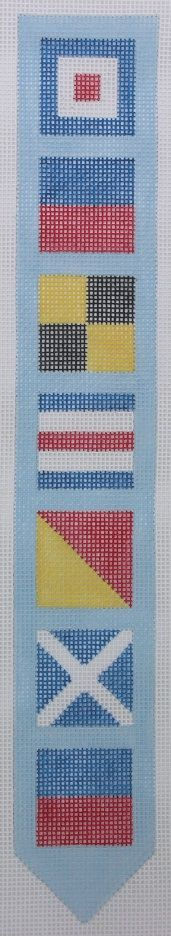 """Mini bell pull - """"WELCOME"""" in nautical flags"""