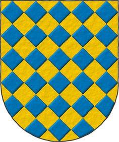Thomas de Warbrentone ~ Thomas de Warbleton: Losanjado oro y azur. Family Shield, Napoleonic Wars, Family Crest, Coat Of Arms, Genealogy, Showers, Kids Rugs, Plates, School
