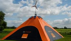 Solar & wind energy gathering tent to charge gadgets. Seven sustainable tents to enjoy the Nature | Designbuzz : Design ideas and concepts.   Great for the zombie apocalypse! JBD