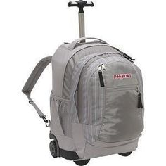 """JANSPORT DRIVER 8 GRAY RED LAPTOP BACKPACK CARRY ON 13"""" MAC LAPTOP"""