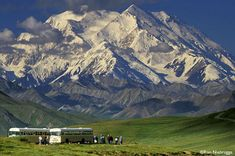 Mt. McKinley in Denali Park bus ride - hot chocolate for everyone. Life changing experience