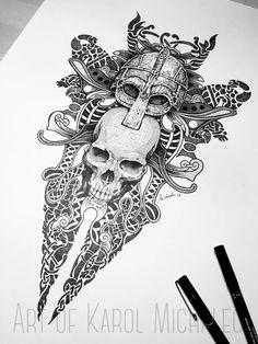 Viking Tattoos For Men, Viking Warrior Tattoos, Viking Rune Tattoo, Viking Tattoo Sleeve, Norse Tattoo, Viking Tattoo Design, Celtic Tattoos, Tattoos For Guys, Viking Tribal Tattoos