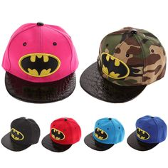 Kids Cartoon Casquette Flat Snapback Batman Cap Children Embroidery Cotton Baseball Cap Baby Boys and Girls Hip-Hop Hats