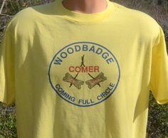 vintage 80s t-shirt WOODBADGE boy scouts camp comer hike wood badge t-shirt XL Large bsa by skippyhaha