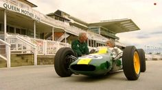 Damon Hill drives the 1962 Lotus 25 at the old Aintree circuit