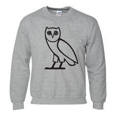 OVO OWL OCTOBERS VERY OWN DRAKE GREY JUMPER SWEATER SWEATSHIRT (Medium... ($21) ❤ liked on Polyvore featuring tops, hoodies, sweatshirts, owl top, gray sweatshirt, gray top, owl sweatshirt y grey sweatshirt
