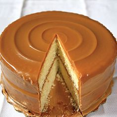 Rose's Famous Caramel Cake Recipe Desserts, Afternoon Tea with unsalted butter, cake flour, baking powder, salt, sugar, vanilla extract, eggs, milk, salted butter, evaporated milk