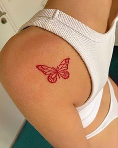 Dope Tattoos For Women, Tiny Tattoos For Girls, Cute Tiny Tattoos, Dainty Tattoos, Little Tattoos, Pretty Tattoos, Red Ink Tattoos, Mini Tattoos, Body Art Tattoos