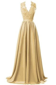 Plus Size Long Bridesmaid Prom Dresses Lace V-Neck Evening A-Line Party Gowns…