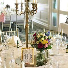 Beautiful gold candelabra at @fernhill_house #weddingdetails #weddingtable #tablecentre #irishwedding #irishflorist #westcorkwedding #bloomsdayflowers