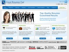 Great Resumes Fast - website redesign, xhtml/css, ecommerce, SEO, blog (wordpress), flash