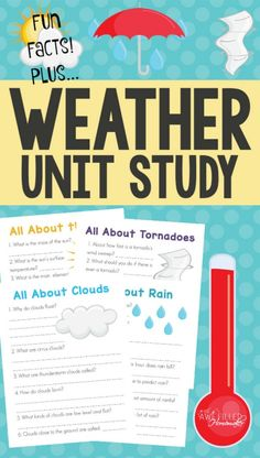 Fun Facts About Weather Unit Study is part of Homeschool subjects Unit Studies - Learning about the weather can be fun! I am excited so share this weather unit study with you! Kindergarten Lesson Plans, Homeschool Kindergarten, Homeschool Curriculum, Homeschool Coop, Montessori Homeschool, Gentle Parenting, Parenting Tips, Homeschooling 2nd Grade, Online Homeschooling