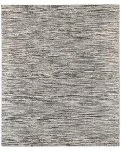 Striated Flatweave Rug - Grey