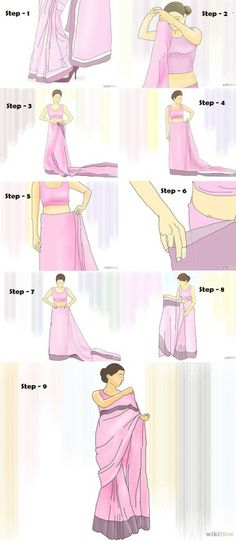#tutorial on #howto wear #sari