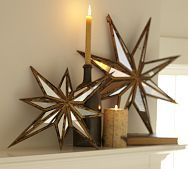 Beautiful gold and white stars!!! Bebe'!!! Add a candlestick and candles for a pretty holiday look!!!