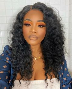 Flawless Makeup, Beauty Makeup, Hair Makeup, Hair Beauty, Beauty Tips, Black Girl Makeup, Girls Makeup, Orange Makeup, Afro